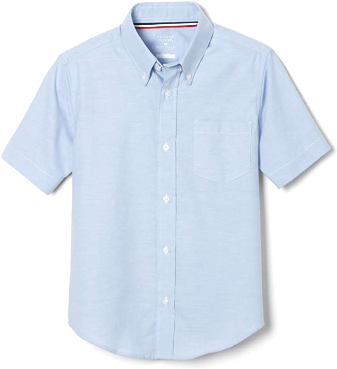 French Toast Boys Short Sleeve Button Down Oxford Shirt
