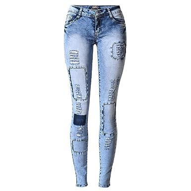 feilongzaitianba Ripped Jeans Women Holes Skinny Jeans Slim ...