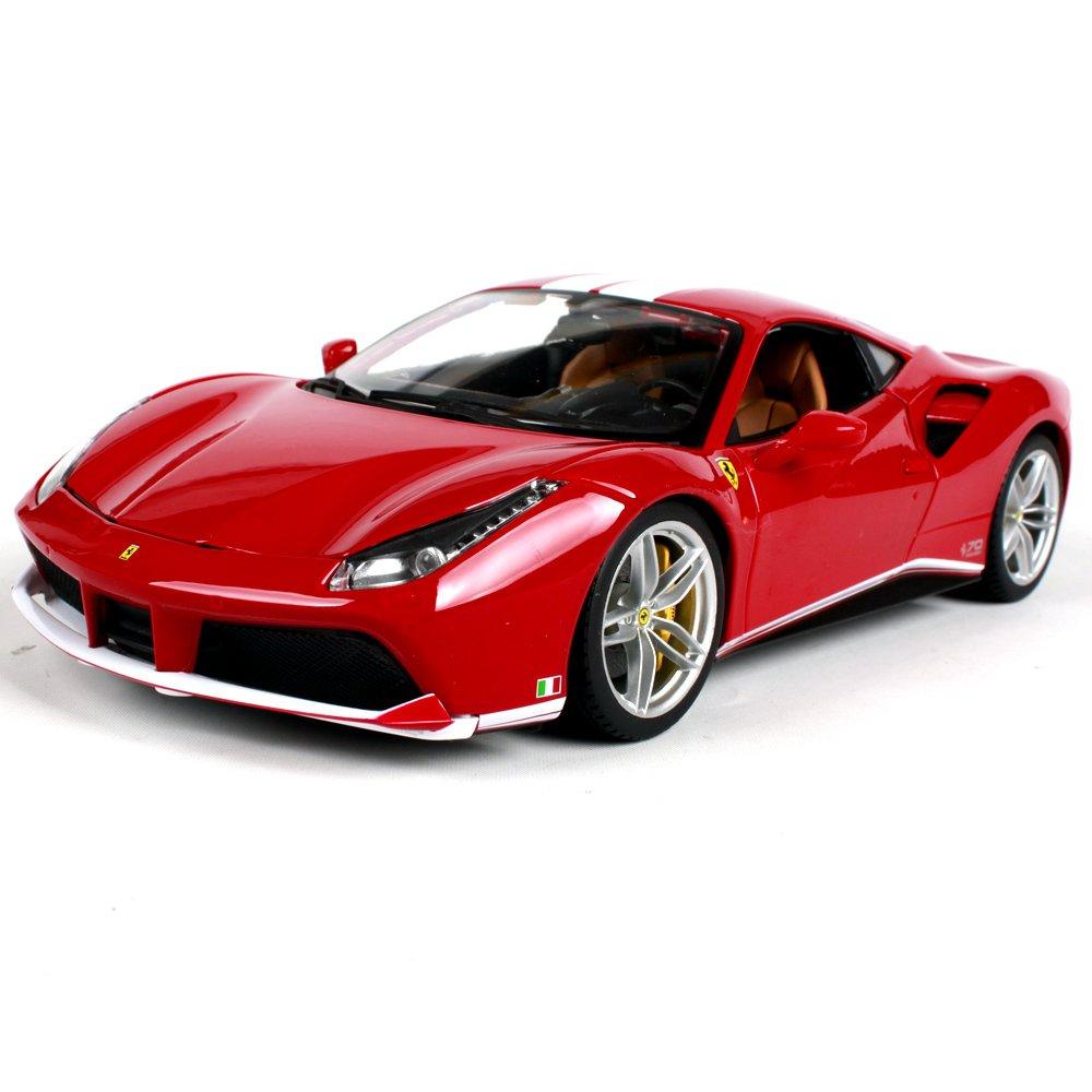 Haixin Ferrari 488GTB, Modello di Auto in Lega, Scala 01 24, Rosso in Metallo