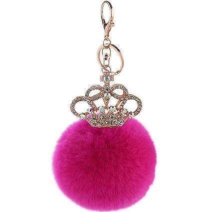 ZPL Llavero corona encanto mujeres bolso púrpura colgante ...
