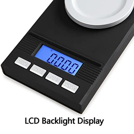 Básculas de cocina DUDDP Mini joyería Escala 0.001G Laboratorio de alta precisión Mg Barra de labios portátil Balanza de pesaje Electrónica, multifunción, ...