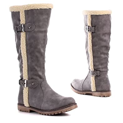 23e1cd5bcffacd Young-Fashion Damen Stiefel Grau 41 (PG6684)  Amazon.de  Schuhe ...