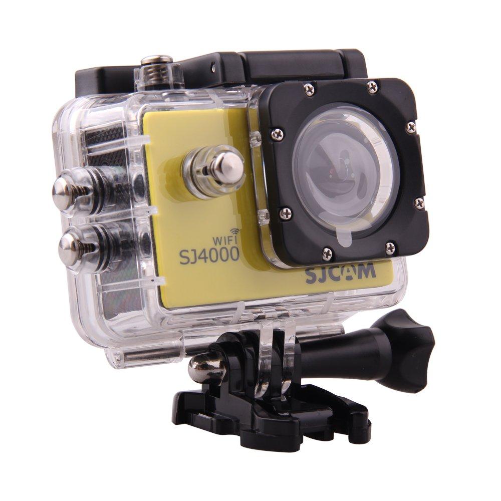 SJCAM Original SJ4000 WiFi Action Camera 12MP 1080P H.264 1.5 Inch 170° Wide Angle Lens Waterproof Diving HD Camcorder Car DVR (Yellow)