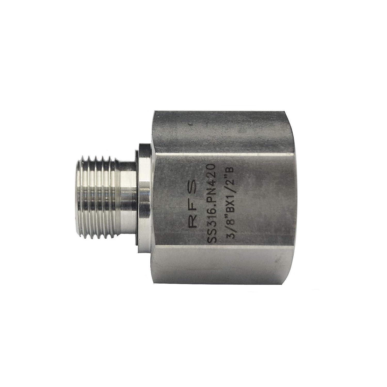 "1/"" x 1//2/"" BSP REDUCING SOCKET 316 STAINLESS STEEL 25mm x 15mm"