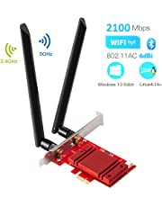 Hommie AC 1730Mbps+Bluetooth 5.0 PCI-E WiFi Card with Heat Sink, IEEE 802.11AC 5GHz/2.4GHz Dual Band PCI WiFi Adapter Wireless Network Interface Card Gigabit Adapter for Win10 Linux 4.14+ (WIE9260)