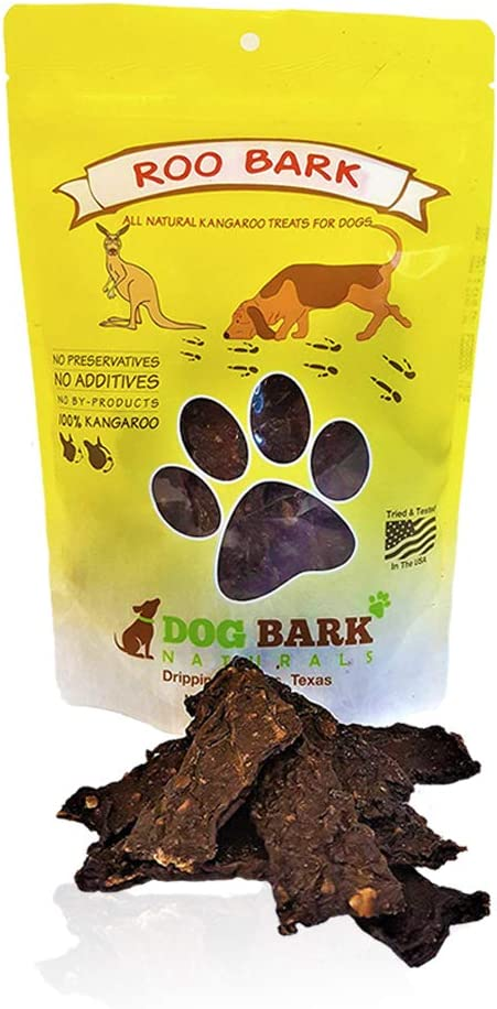 Dog Bark Naturals Jerky Dog Treats - Made in The USA - 1 Ingredient, Beef, Chicken, Bacon, Kangaroo, Bison, Venison - All Natural Dog and Puppy Treats