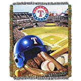 """The Northwest Company MLB Texas Rangers Home Field Advantage Woven Tapestry Throw, 48"""" x 60"""