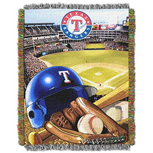 The Northwest Company MLB Texas Rangers Home Field Advantage Woven Tapestry Throw, 48