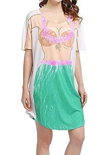 e13e7d1459 MuQing Women's Short Sleeve Fun 3D Print Bikini Cover Up Baggy T Shirt Dress