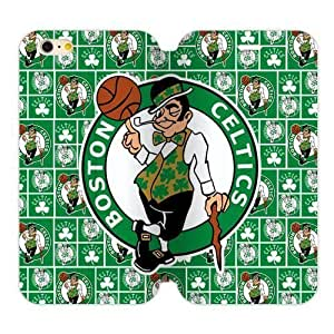 Boston Celtics Logo Case iPhone6 Plus 5.5 TPU Flip Case and High Grade PU Leather Cover by Maris's Diary