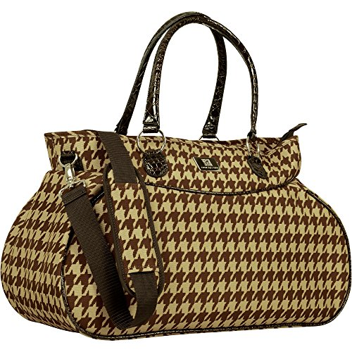 Price comparison product image Anne Klein AK Boston Tote Bag, Chocolate/Tan/Houndstooth, One Size