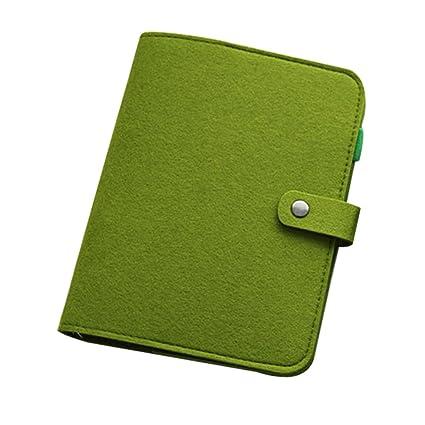 Amazoncom Yodaliy A5a6 Felt Notebook Cover Diary Loose Leaf