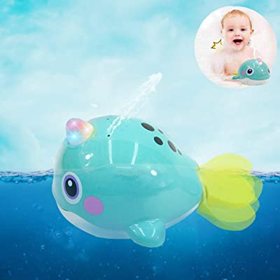 Sytle-Carry Water Squirt Baby Bath Toy - Water Spray Sprinkler Waterproof Bathub Spouting Pool Toys W/ LED Light Bathtime Shower Gift for 12 18 Months 1 2 Years Toddler Infant Boys Girls Kids (8101): Toys & Games