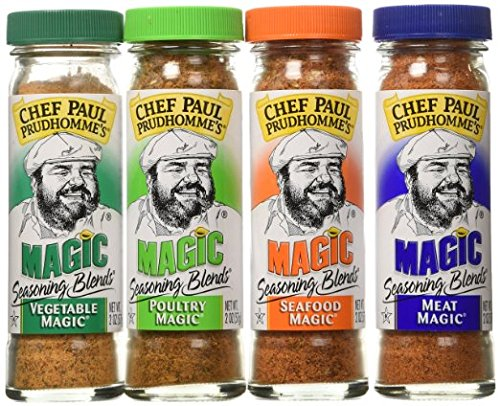 Chef Paul Prudhomme's Magic Seasoning Blends  Magic 4-Pack, Qty. Four  2-ounce bottles (Chefs Bottle)