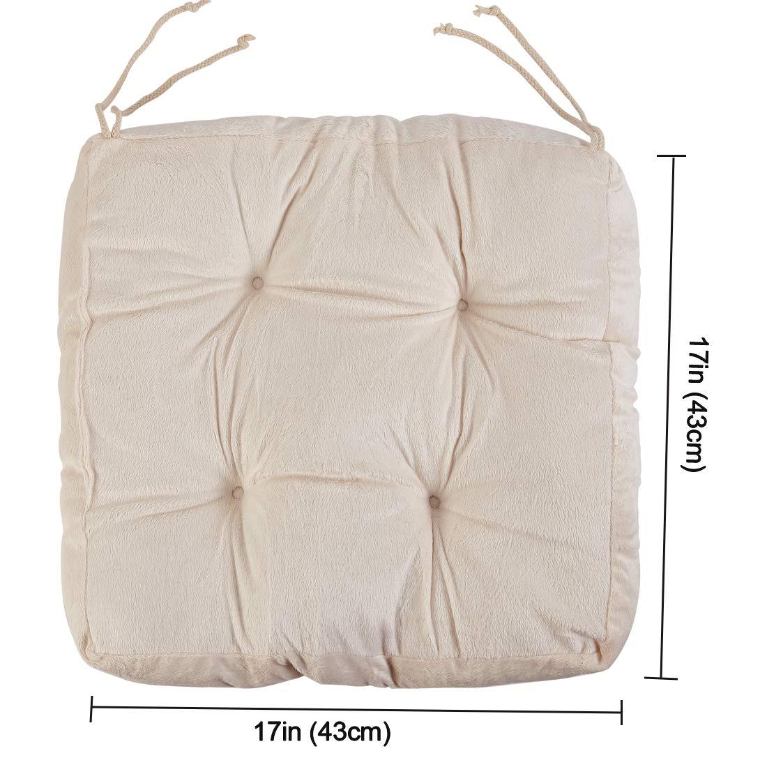 Amazon.com: Big Hippo - Cojín cuadrado de algodón para silla ...