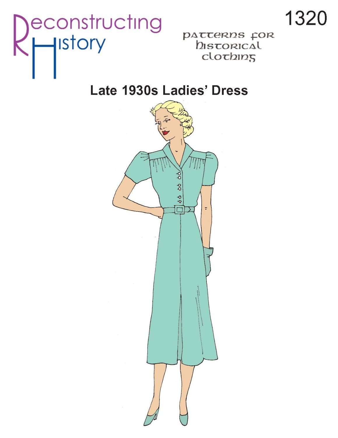 Late 1930s Ladies' Dress Pattern by Reconstructing History   B008165HUS