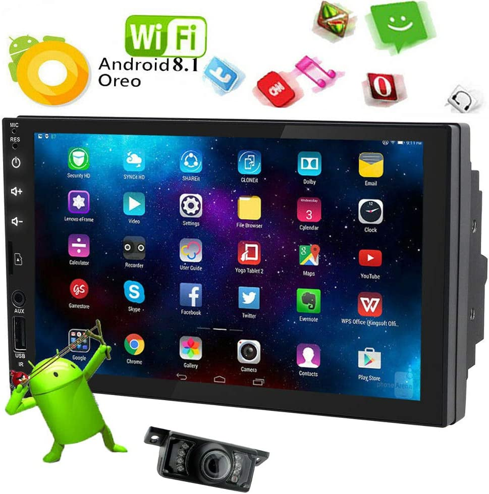 """Quad Core Android 8.1 7/"""" Car Stereo Radio MP5 Player GPS Navi Touch Screen+Cam"""