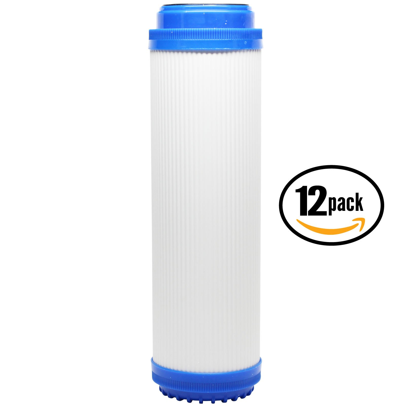 12-Pack Replacement Aqua Pure SST2HB Granular Activated Carbon Filter - Universal 10-inch Cartridge for Aqua Pure 5592010 Stainless Steel Water Filter Housing SST2Hb - Denali Pure Brand