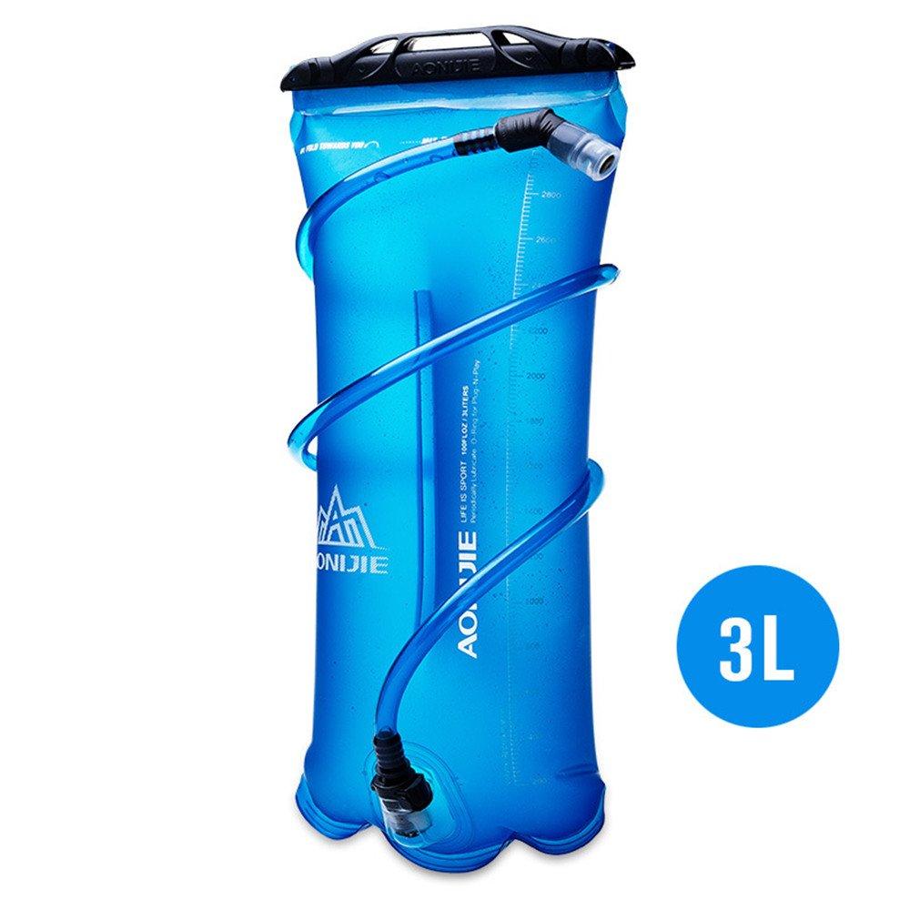 Bolsa de agua plegable, de TPU, para hidratación durante deportes al aire libre como correr, camping, senderismo, bicicleta, de 1,5 l, 2l, 3l, de Aonijie, 1.5 L