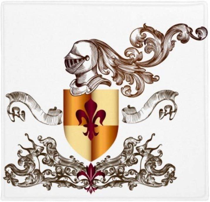DIYthinker Caballeros Medievales de Europa Armadura Emblema Antideslizante Suelo Pet Square Mat Baño Sala Cocina Puerta 60 / 50cm Regalo 60X60Cm