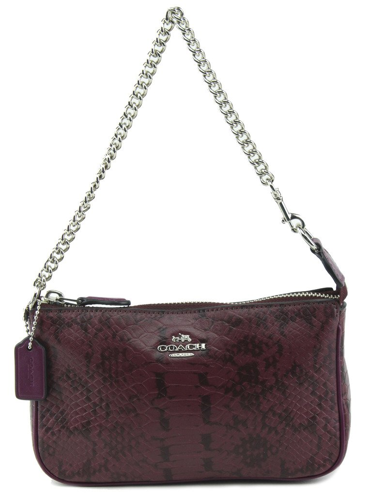 Coach Nolita Wristlet 19 in Exotic Embossed Leather, Style 64712, Light Plum by Coach