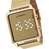 Relógio Lince Feminino Ref: Mdg4619l Bxkx Digital LED Dourado