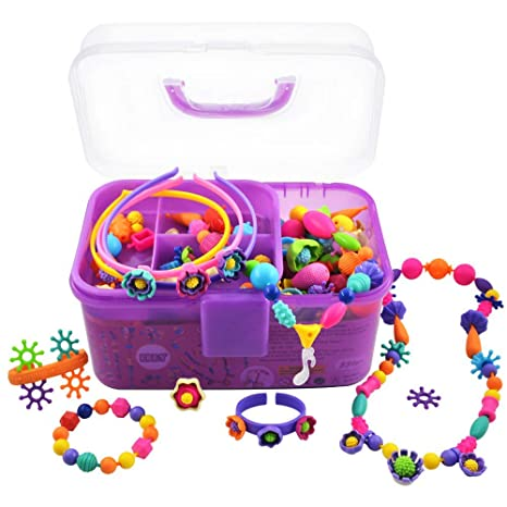 Amazon.com: Pop Beads, Christmas Gifts for 4, 5, 6, 7 Year Old Girls ...