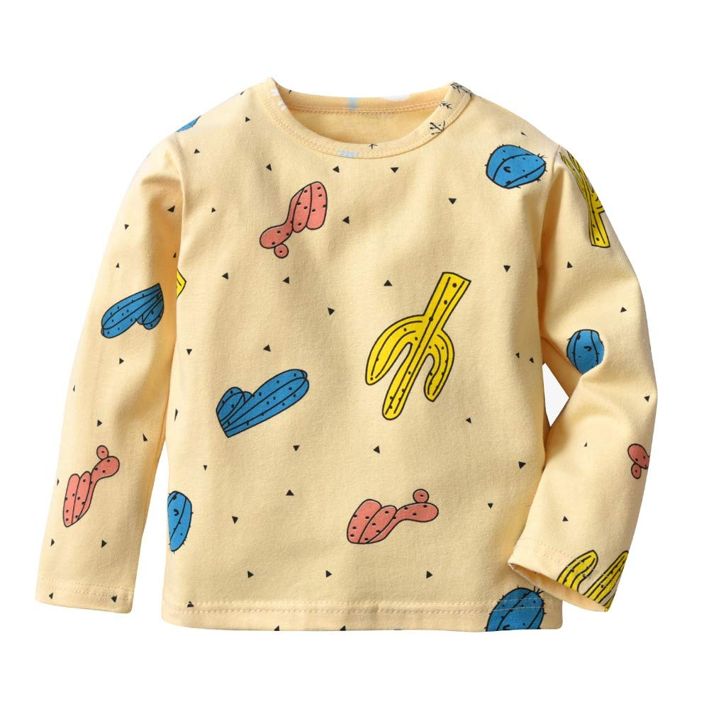 Little Kids Pajamas Sets Kids Baby Girls Boys Cartoon Plant Print Tops Pants Homewear Sleepwear Outfits Jchen TM