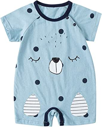 bebé niño niña Animal Mono Manga Corto Recien ninos Algodon Bodies Linda bodis Peleles Pijamas 0-18 Meses: Amazon.es: Ropa y accesorios