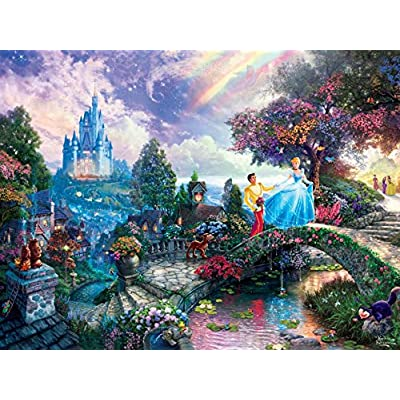 Thomas Kinkade The Disney Dreams Collection: Cinderella Wishes Upon a Dream Puzzle, 750 pc: Toys & Games