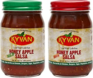 product image for KYVAN Hot & Mild Honey Apple Salsa - 2 Pack