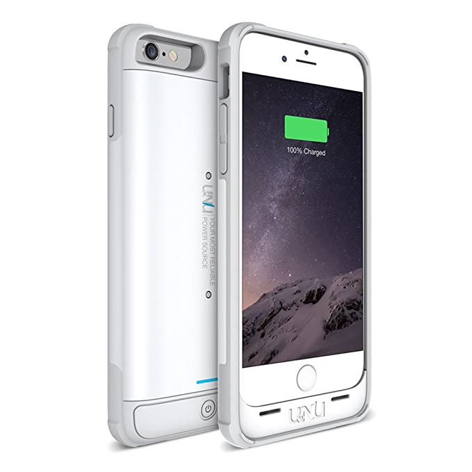 newest 83e80 ca3d8 iPhone 6S Battery Case, iPhone 6 Battery Case, UNU AERO Wireless iPhone 6  Case w/Charging Pad (4.7 Inches)[White/Grey]1 YR -3000mAh Portable Charger,  ...