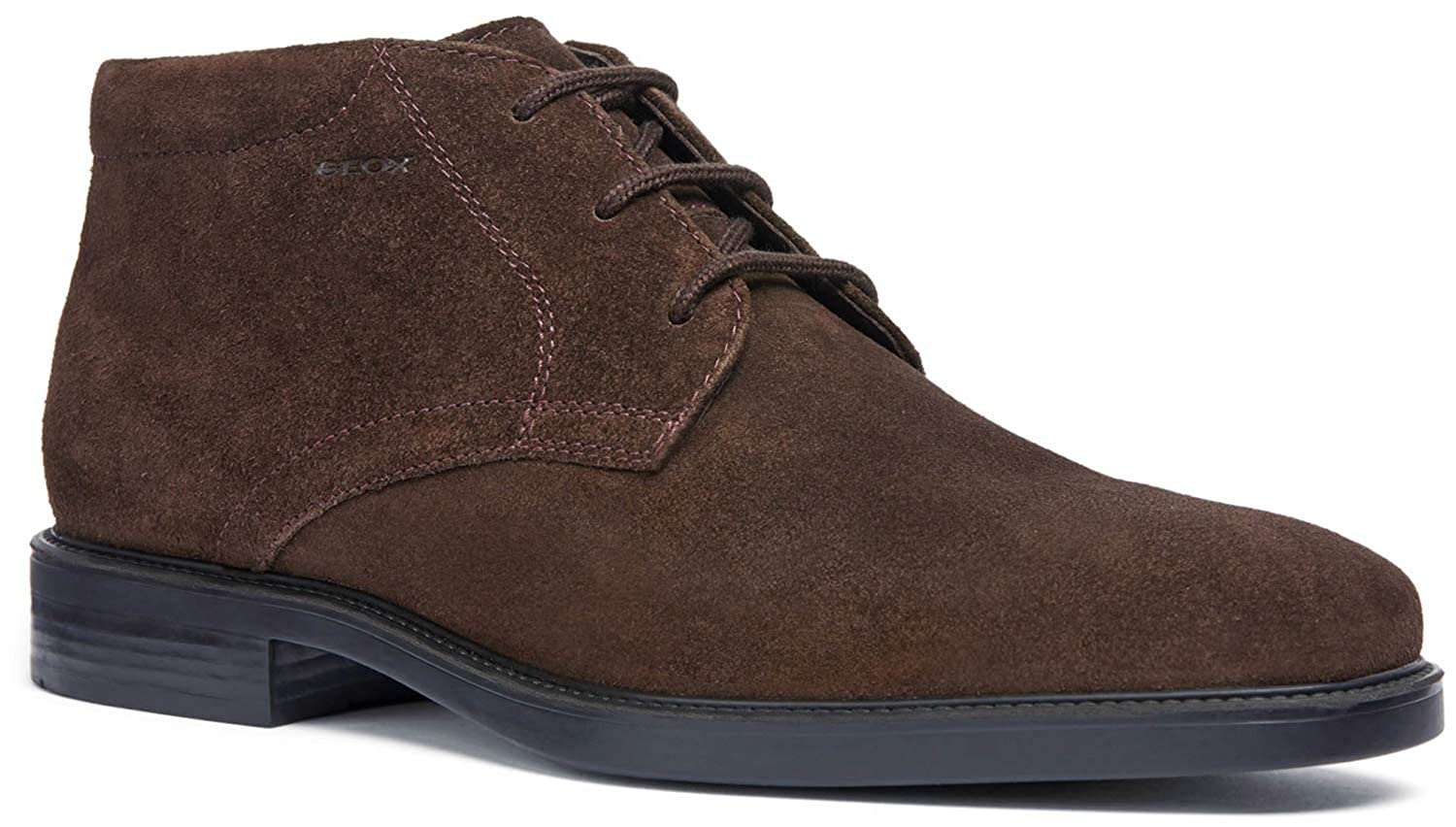Geox Brandolf Mens Lace-Up Shoes Brown