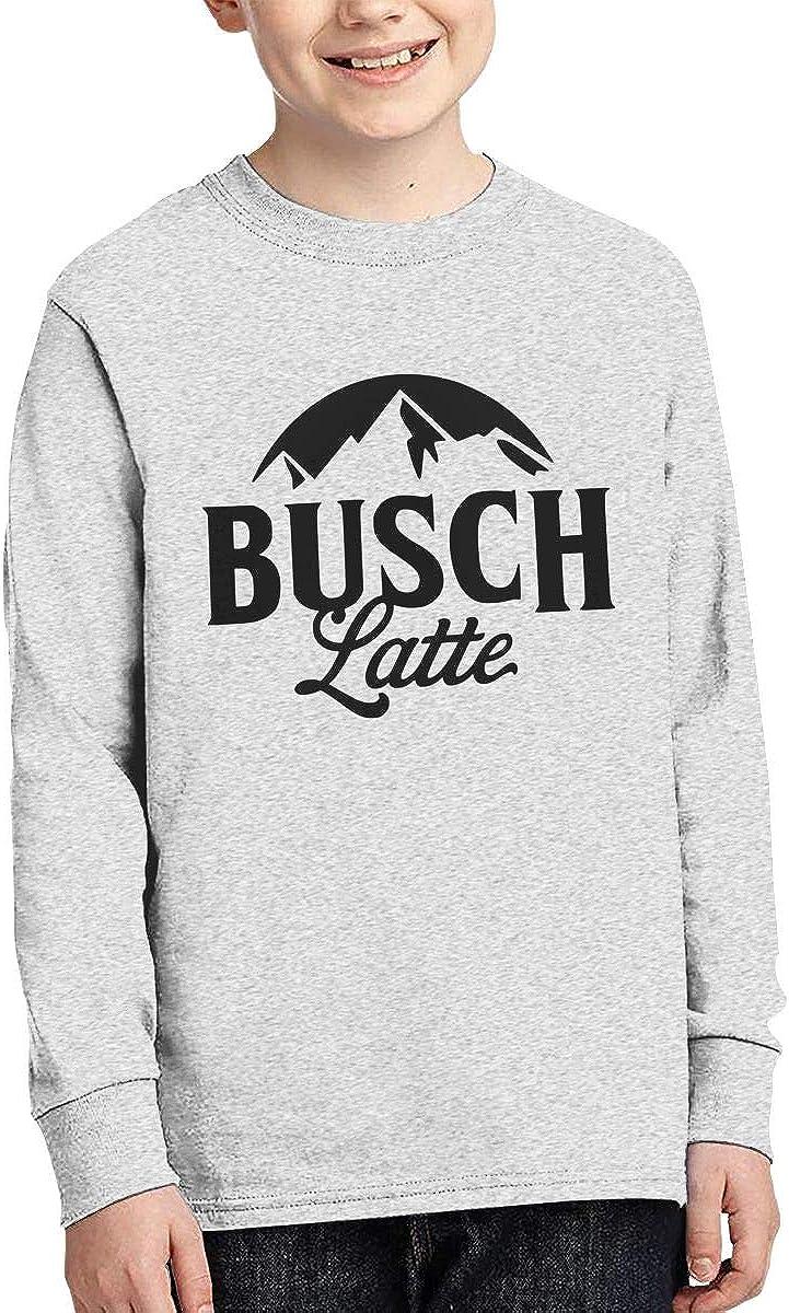 Guangxitielaitouziyouxiangongsi Busch Latte Boys Girls Long Sleeve Graphic Fashion T-Shirt