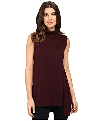 Vince Camuto Women's Sleeveless Turtleneck Sweater with Front ...