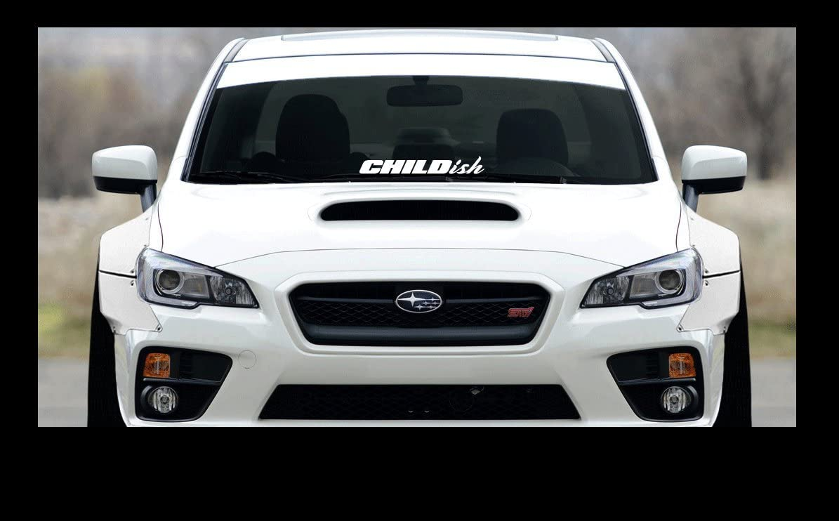 "CHILDISH sticker 23/"" Windshield JDM acura honda lowered car subaru decal VW"