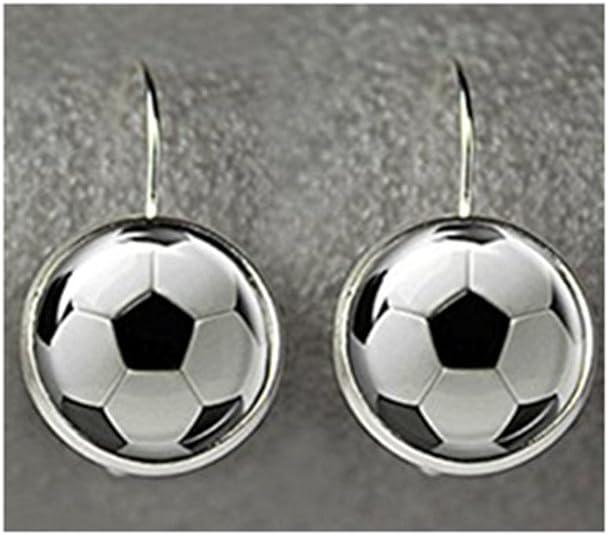 Pendientes de bola de fútbol, pendientes de fútbol, pendientes de ...
