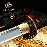 "Auway® 40"" Fully Handmade High Carbon Steel Full Tang Blade Japanese Katana Samurai"