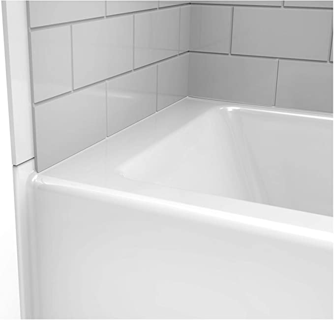 Jacuzzi J4s6042blxxxxw White 60 X 42 Signature Three Wall Alcove Soaking Bathtub With Left Drain Tiling Flange And Skirt Drop In Bathtubs
