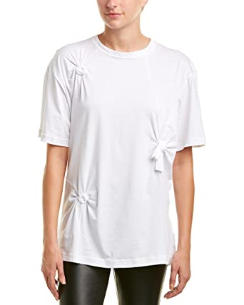 6d972f684 Image Unavailable. Image not available for. Color: Helmut Lang Womens  Knotted T-Shirt ...