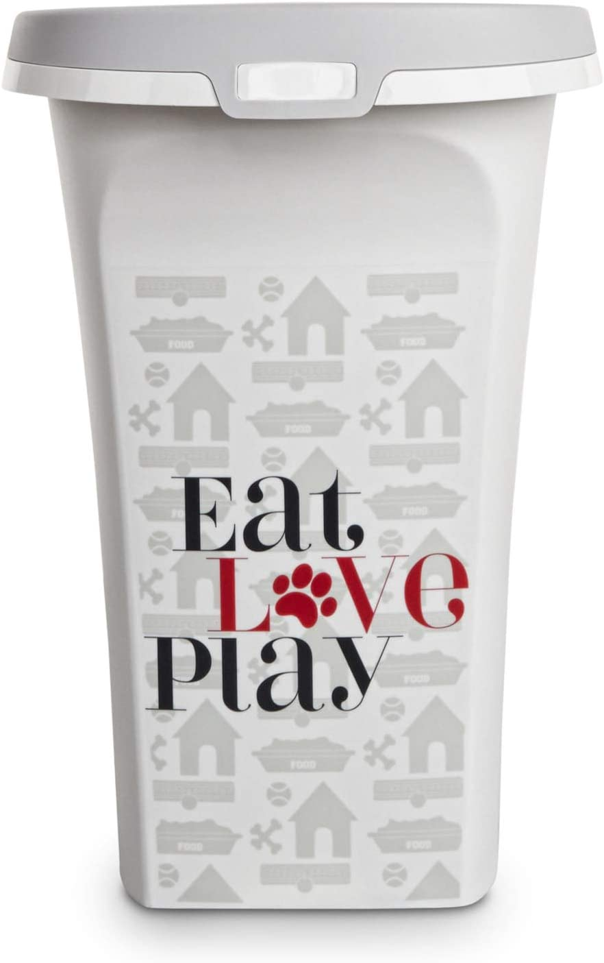 You & Me Eat, Love, Play Rolling Bulk Food Storage Container for Dogs, 14.4