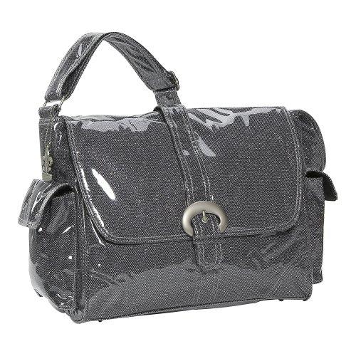 Kalencom Laminated Buckle Bag, Black Crystals by Kalencom (Image #1)