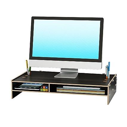 A J S Pantalla del Monitor del Ordenador Portátil Estantes Aumentados, Ángulo Ajustable, El Almacenaje del