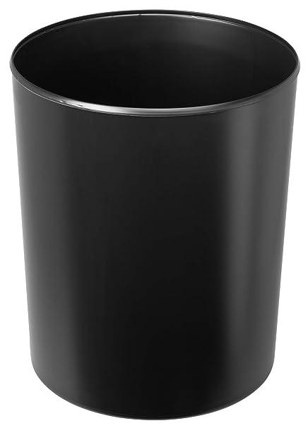 HAN Sicherheitspapierkorb 1814-S-12 in Wei/ß//Schwer entflammbarer Papierkorb mit Aluminium Einlage//F/ür mehr Sicherheit im B/üro//Fassungsverm/ögen 13 Liter