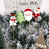 JUSTDOLIFE 8 Piezas De Centro De Mesa Navideño árbol De Santa ...
