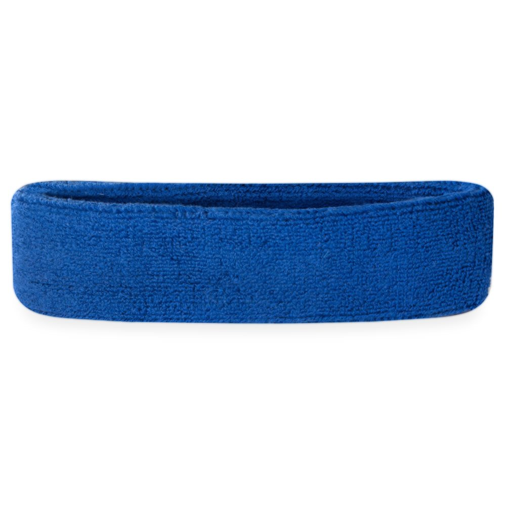 Suddora Sweatband/Headband - Terry Cloth Athletic Basketball Head Sweat Bands (Blue) by Suddora