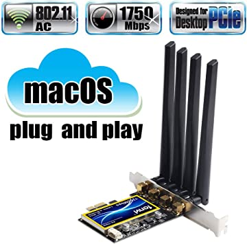 fenvi T919 for macOS PC PCI WiFi Card Continuity & Handoff BCM94360CD Native Airport WiFi & BT 4.0 1750Mbps 5GHz/2.4GHz 3x3 MIMO abgn+ac Beamforming+ ...