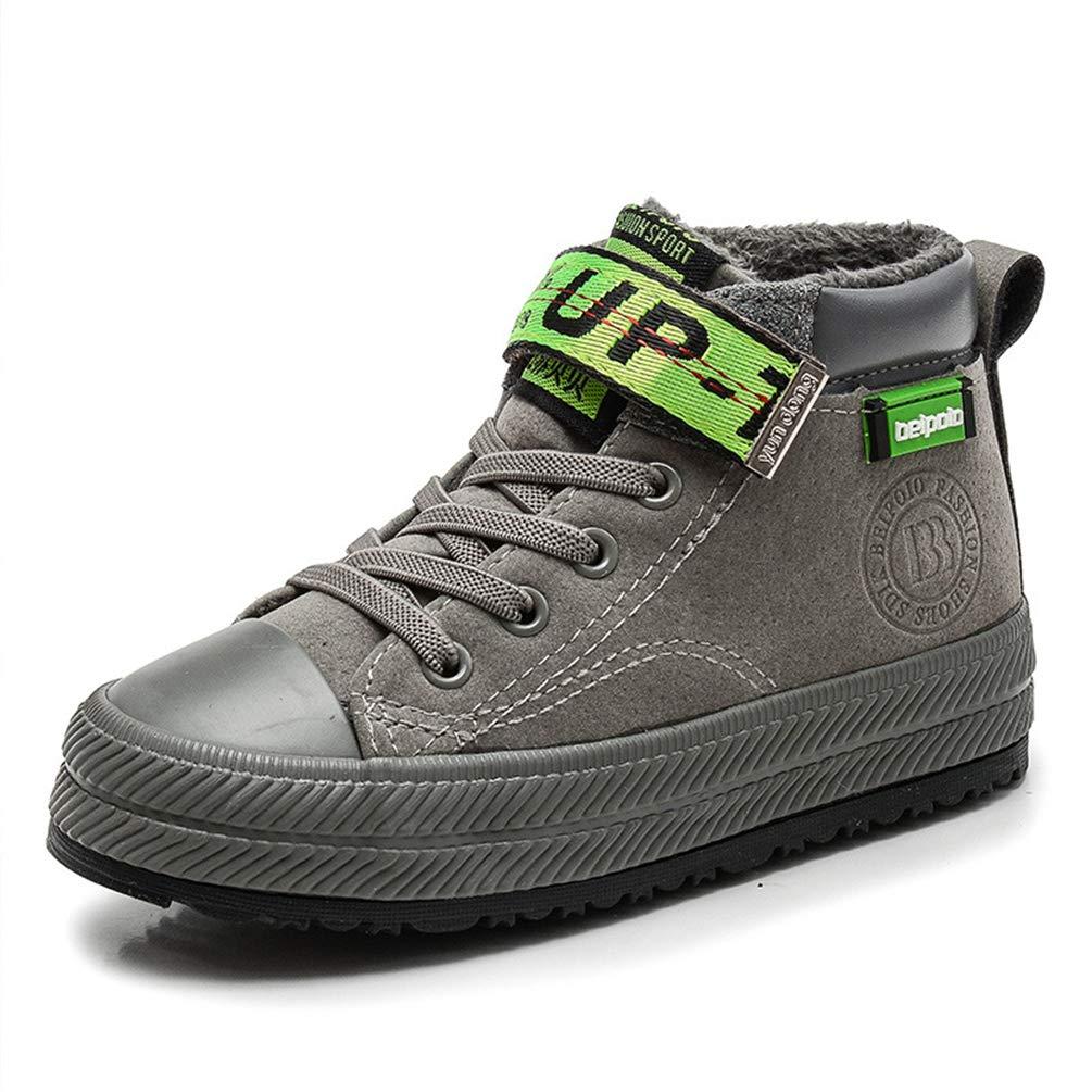 Botas de Nieve para niños Zapatos de Deporte para niños Zapatos de algodón cálido y Felpa para niños Antideslizante