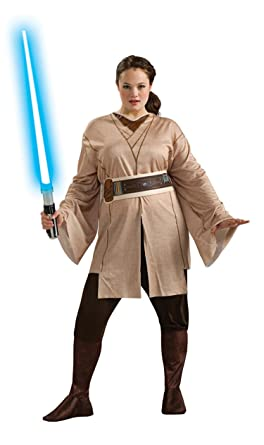 Amazon.com: Rubie's Costume Women's Plus-Size Star Wars Adult Jedi ...
