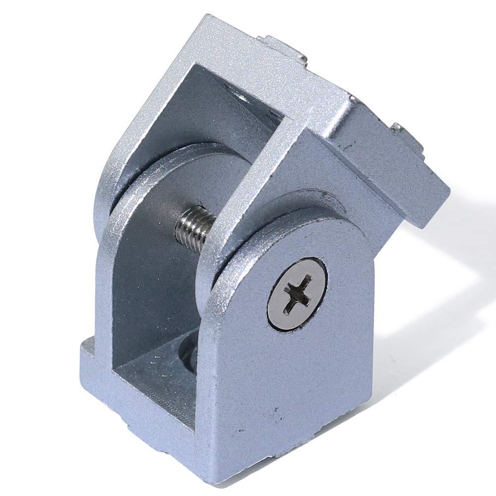Flexible Pivot Joint for 3030 Aluminum Profile Boeray 2pcs Die-Cast Zinc Alloy Pivot Joint for Aluminum Extrusion Profile 3030 Series